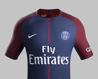 INCARNE PARIS AVEC LE NOUVEAU MAILLOT DU PARIS SAINT GERMAIN